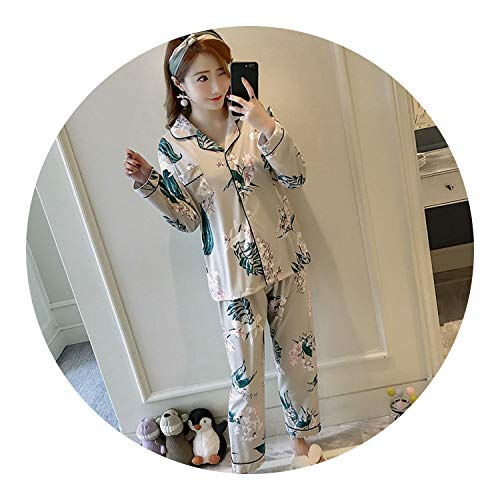 Spring Autumn New Women Pajamas Long Tops Set Female Pajama Sets,C J is not,M -