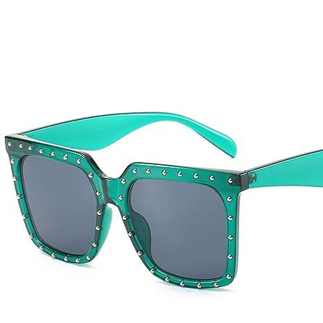 Yangjing-hl Caja de Moda Gafas de Sol Personalidad Red Gafas ...