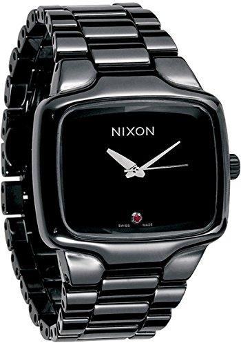 Nixon Men's A145-001 Ceramic Player Analog Swiss Quartz Black Dial Watch