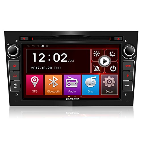 Pumpkin Double Din Car Stereo Sat Nav for Vauxhall Corsa Astra Vectra...