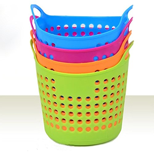 small plastic basket with handle - 8