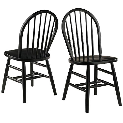 (Winsome Wood Windsor Chair (2 Sets of Black Finish))