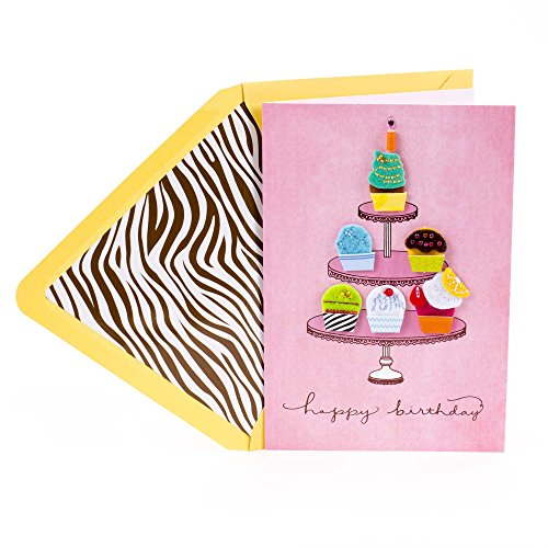 Hallmark Signature Funny Birthday Greeting Card (Cupcakes)