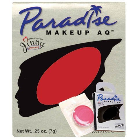 Paradise Makeup AQ Single Refills, Red