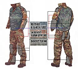 ZAPT Tactical Military Uniform Paintball Airsoft Hunting Army Camo Apparel Shirt and Pants with Elbow Knee Pads Combat Clothing