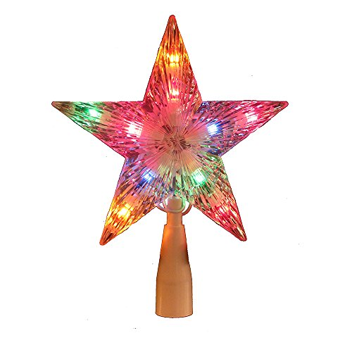 Kurt Adler Multi-Colored Crystal Star Treetop