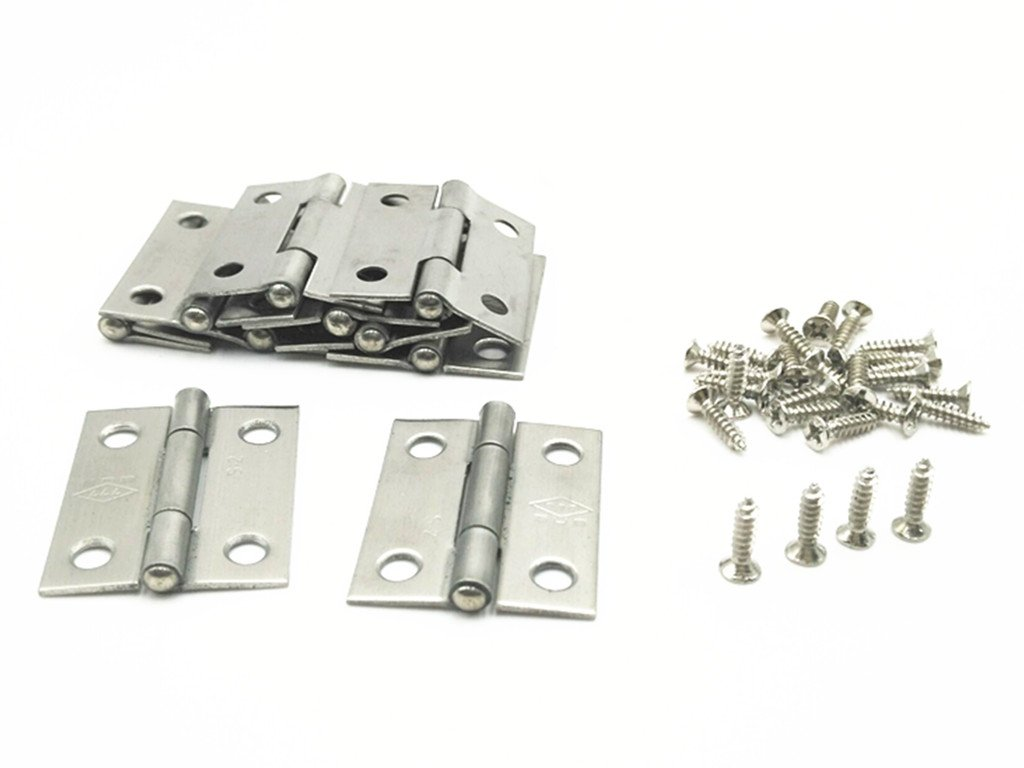 XJS Cabinet Stainless Steel Screw Mounted Door Hinges with Mounting Screws (1.5'' 10 Pcs) by xjs (Image #3)