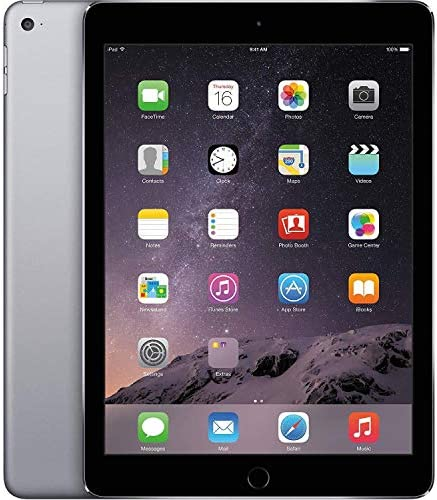 Apple iPad Air 2 9.7in 64GB Cellular Unlocked + WiFi Tablet - Space Gray / Black - MH2M2LLAUS-cr (Renewed)