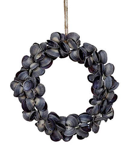 "Purple Cay Seashell Shell Wreath 6"""