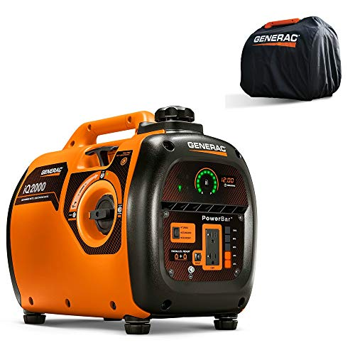 Generac 6901 iQ2000 Inverter Generator 6866 with Storage Cover 6875 Combo Kit