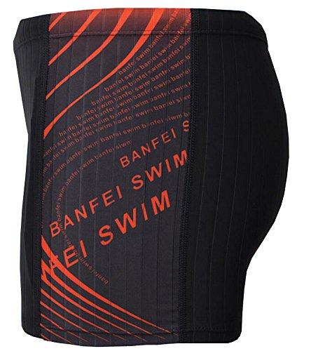 Vocni Men's Solid Fashion Jammer Rapid Quick Dry Square Leg Swimsuit Swimwear for Men