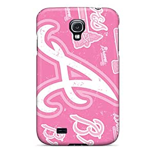 Davilacase Perfect Tpu Case For Galaxy S4/ Anti-scratch Protector Case (atlanta Braves)