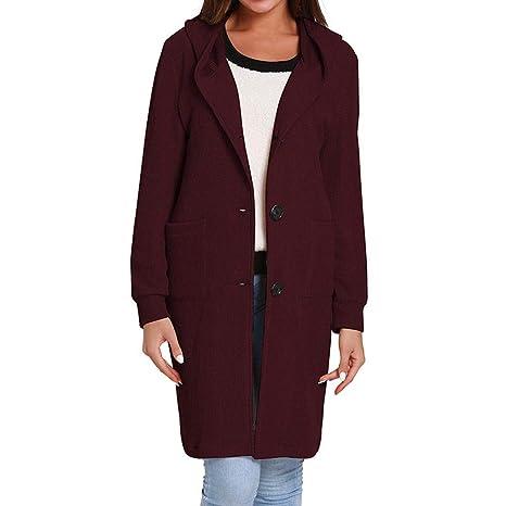 Fancylande Abrigo Mujer Larga Trench Coat Chic - Chaqueta ...