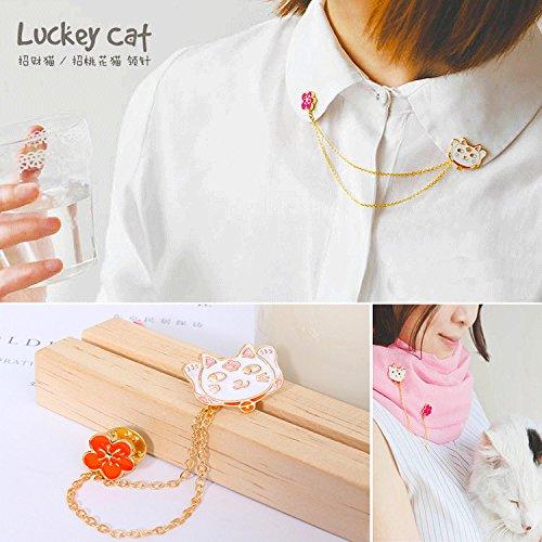 Korea cute cat cute tassel flower brooch collar decoration