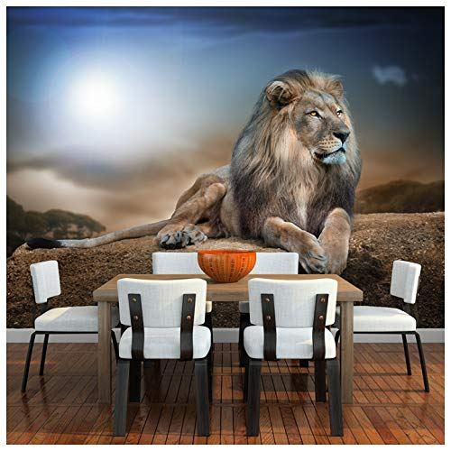 Majestic Lion Wall Mural Safari Animal Photo Wallpaper Kids Bedroom Home Decor Available In 8 Sizes Xx Large Digital