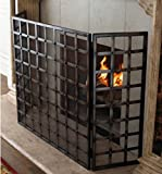 Gothic Iron Nailhead Fireplace Screen