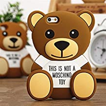 BIG-SHOP Limited Edition Moschino 3D Cute Cartoon Baby Bear Teddy Soft Silicone Case Cover for iPhone6 Plus 5.5 inch