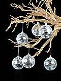 Darice 6-Piece Mirror Ornament Ball, 2.25-Inch, Silver