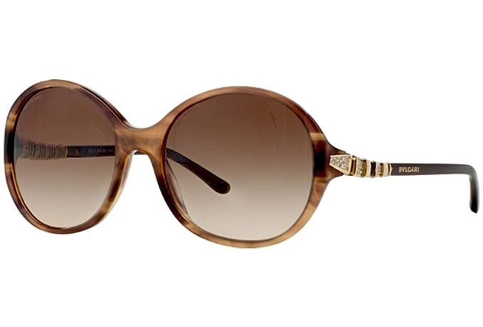 Gafas de Sol Bvlgari BV8140 STRIPED BROWN - BROWN GRADIENT  Amazon.es  Ropa  y accesorios 611b2511161d
