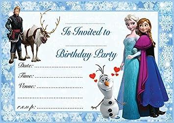 Frozen Elsa Anna Childrens Birthday Party Invites