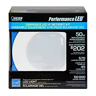 Feit ledr4/850/can 50-watt Replacement 4-Inch Dimmable Retrofit Kit, Daylight