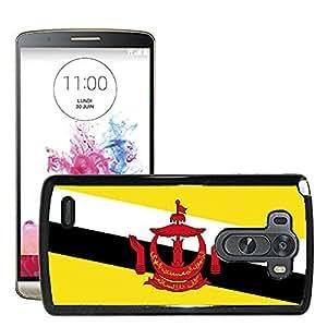 GoGoMobile Slim Protector Hard Shell Cover Case // V00001021 brunei National Country Flag // LG G3 VS985
