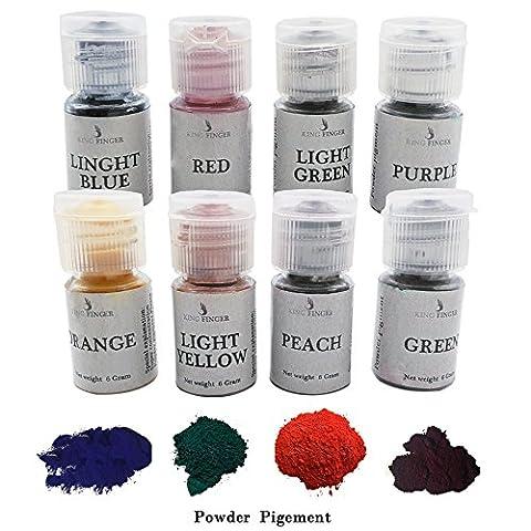 Soap Making Set - 8 Colors for Soap dyes, 6 grams each Color,For Soap Making, Candle Making - Orange Candle Dye