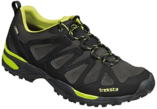 Treksta - Nevado Lace Low GTX. Calzado deportivo multifuncional (color Black/Lime. Tecnología HYPERGRIP)