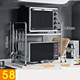 HUO Microwave Oven Rack Single-Layer Floor Storage Rack Kitchen Storage Rack Multifunction (Color : 58Chopping Board)