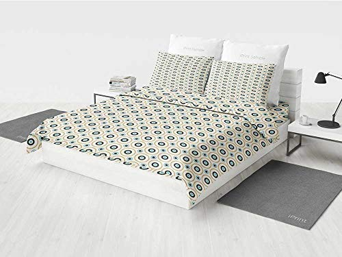 - Retro White Crib Bedding Set Circles and Dots Spots in Different Sizes Symmetrical Pop Art Inspired Printing Four Pieces of Bedding Set Sky Blue Black Amber