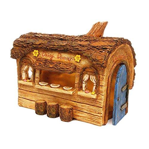 Miniature Fairy Garden House DAISY DINER (NEW) - My Mini Garden Dollhouse Accessories for Outdoor or House Decor