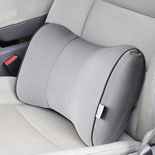 MIAO Car Lumbal - Speicher Baumwolle Bogen Typ Wirbelsäule lumbalen Kissen, Vier Jahreszeiten atmungsaktiv Kissen Auto, Büro Mittagspause Kissen