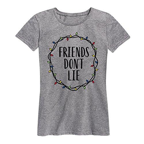 Friends Dont Lie Lights - Ladies Short Sleeve Classic Fit Tee (Friend Womens Light T-shirt)