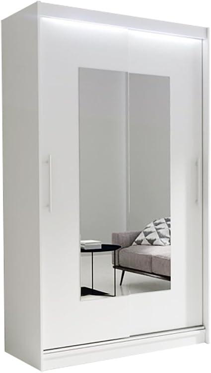 Armario moderno para dormitorio con espejo deslizante para puertas
