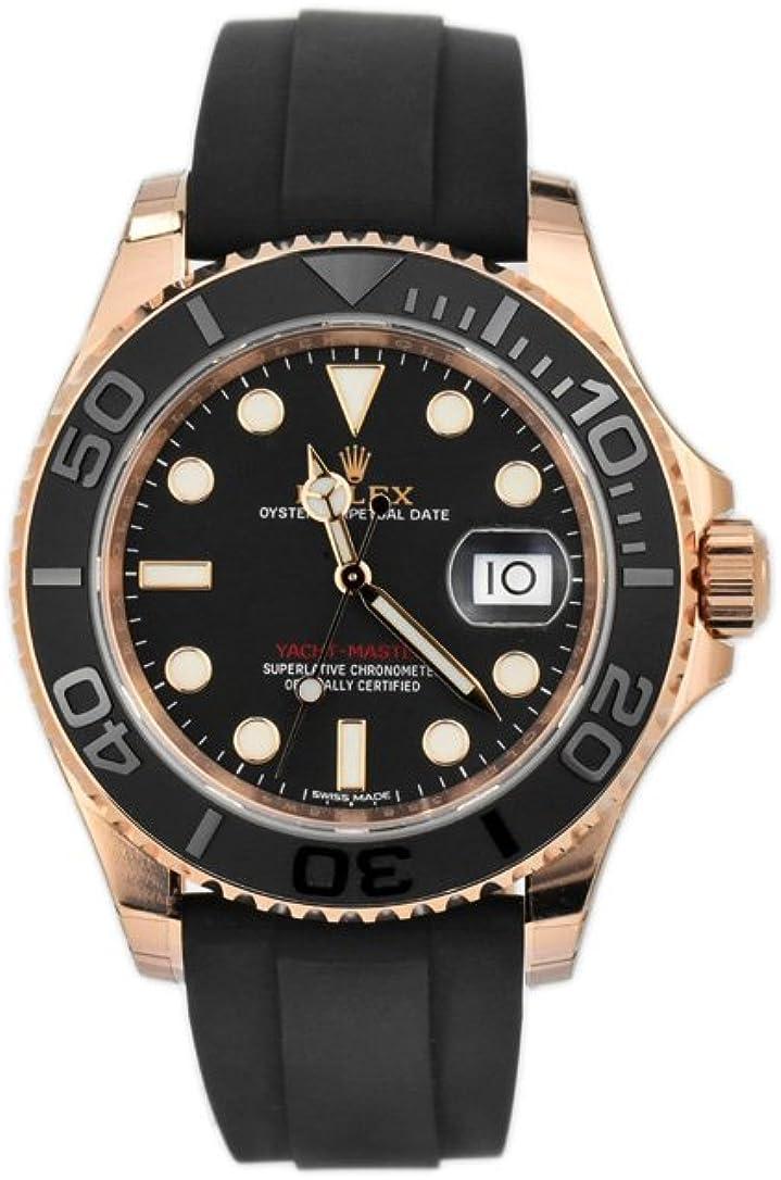 Amazon.com Rolex Yacht Master 40 Black Dial18k Rose Gold