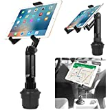 Cup Holder Tablet Mount, Tablet Car Mount Holder Made by Cellet with a Cup Holder Base for iPad Mini/Air 2 /Air/iPad 4/3/2 Samsung Galaxy Tab 4/3 and More - Holds Tablets up to 9.7 Inches in Width
