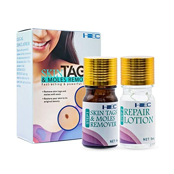HSBCC Skin Tag Remover and Repair Lotion Set, skin tag removal,Easy to use at home