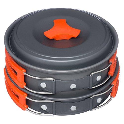Arcadia Outdoors Cookware Mess Kit for Camping, 11 Piece Cookset, Lightweight, Durable, & Compact, Includes Pots, Bowls, Utensils, & Firestarter