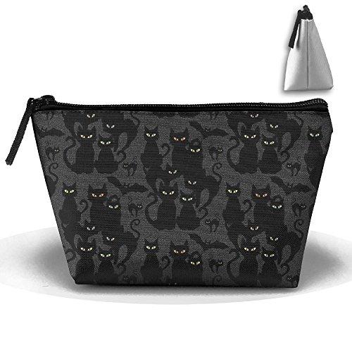 SDEYR79 Halloween Cats Eyes On You Cosmetic Bag, Toiletry Bag,Travel Cosmetic Bag Makeup Bag For Women Men