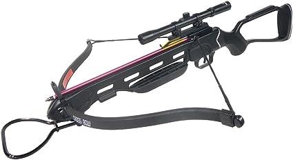 150 lb Black Hunting Crossbow Bow 4x20 Scope Bolts 180 175 80 50 7 Arrows