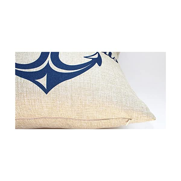 Quadrato blu mare stampato cuscino Chezmax Linen throw Pillow case Sham Slipover Pillowslip federa per la casa divano… 4 spesavip