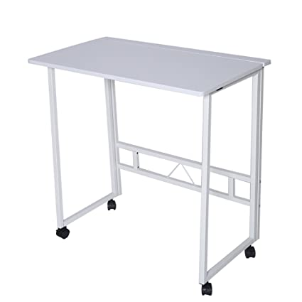amazon com folding writing table rolling laptop notebook computer rh amazon com desk with wheels australia desk with wheels and drawers