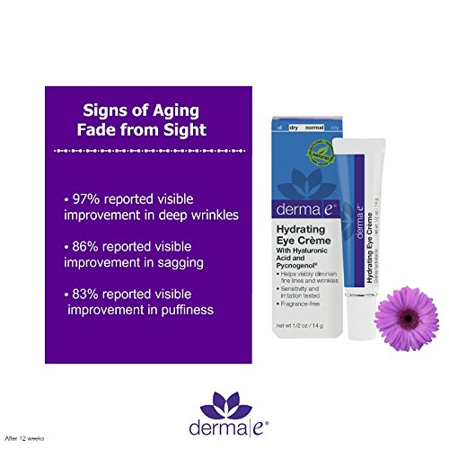 DERMA E Hydrating Eye Crme with Hyaluronic Acid and Pycnogenol 1/2 oz by DERMA-E (Image #2)