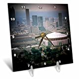 3dRose dc_26322_1 Atlanta Skyline with Sports Complexes Spotlight-Desk Clock, 6 by 6-Inch
