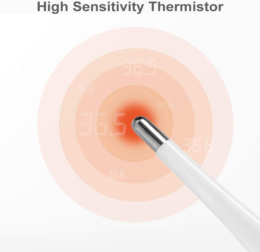 Digital Oral Cavity Rectum Armpit Thermometer with LCD Display for Baby Child Adult Instant Accurate Reading Thermometer Electronic Thermometer
