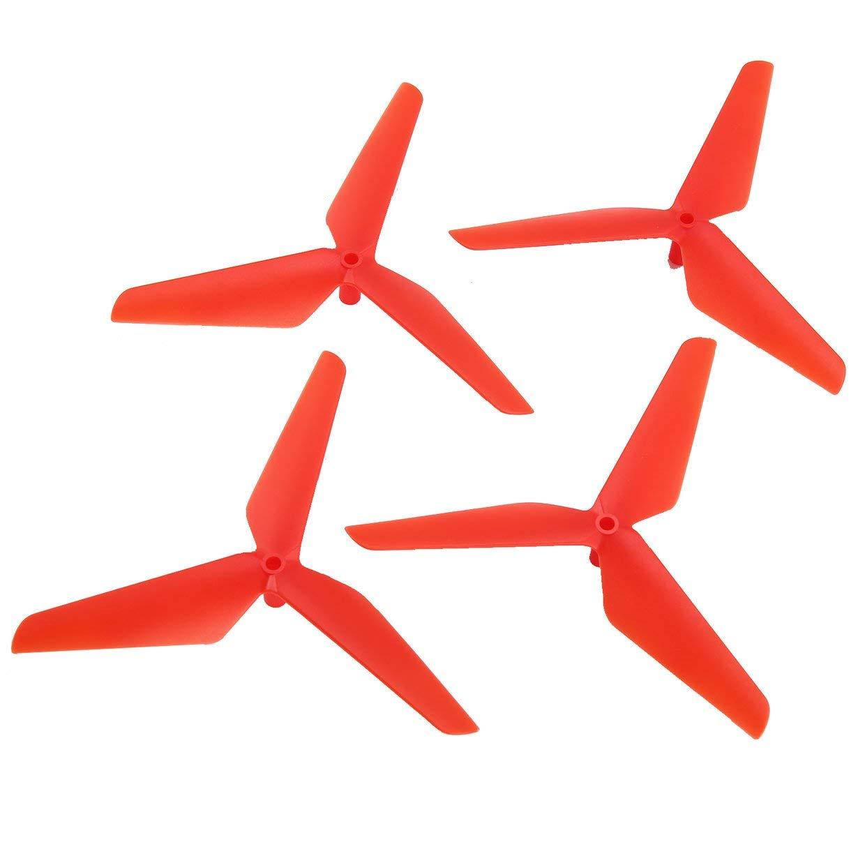 Qewmsg 2 Pares CW/CCW hé lice Props Blade para Syma X5C RC Drone Quadcopter Aviones UAV repuestos Accesorios componente