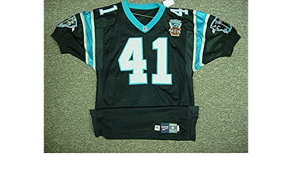 0d31c4fb 41 Nameplate Removed Carolina Panthers 1995 Home Game Worn Jersey at ...