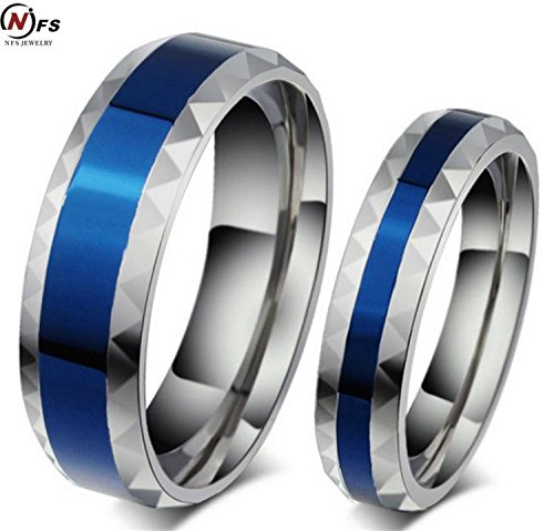 Superman Man Of Steel Costume Replica For Sale (Cherryn Jewelry new 316L Stainless Steel Superman Finger Ring blue 6mm Men's titanium steel Ring for lover)