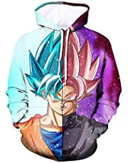 FEXCI Unisex 3D Anime Printed Hoodies Realistic Dragon Ball Z Youth Pocket Pullover Hooded Sweatshirt for tee
