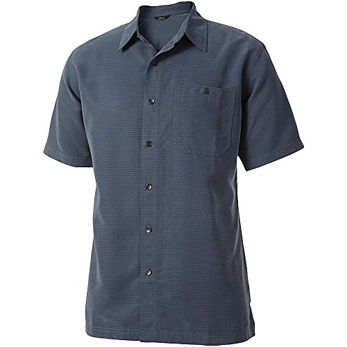 Royal Robbins Men's Mojave Desert Pucker S/S Slate Button-up Shirt MD